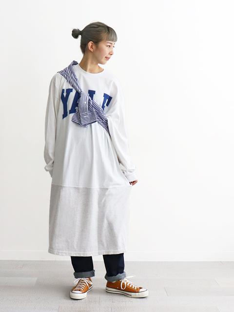 The BOOK STORE (ザ ブックストア) 2Tone Sports One-piece L/S Tee