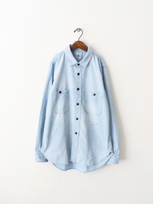 【30%OFF】Re: ORDINARY(リオーディナリー) CHAMBRAY WORK SHIRTS -5YEAR