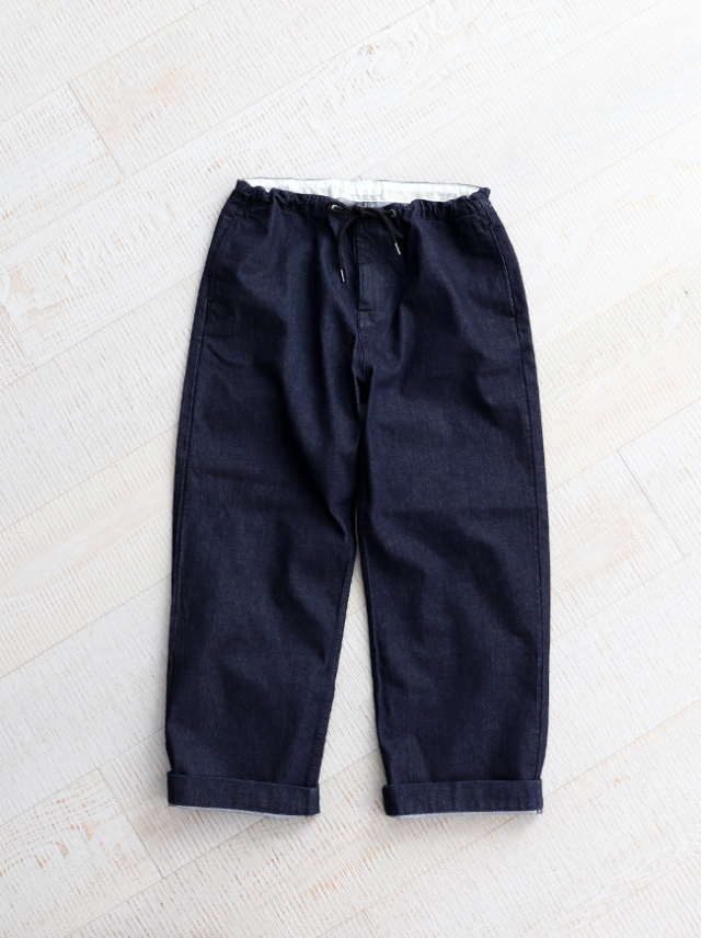 【30%OFF】 HATSKI(ハツキ) Stitch Wide Easy Pants -Denim