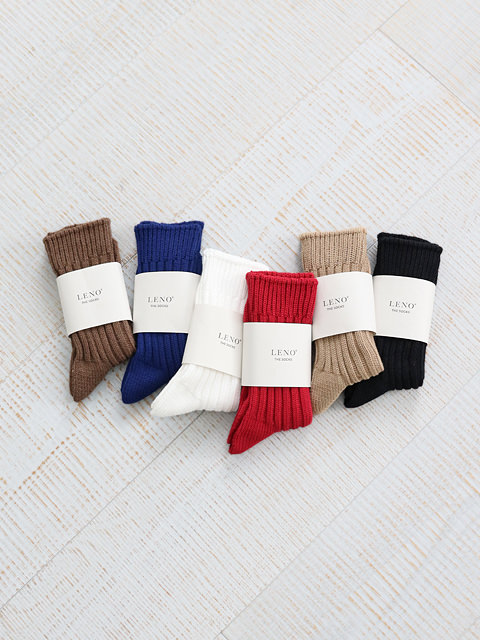 LENO(リノ) COTTON RIB SOCKS SMALL