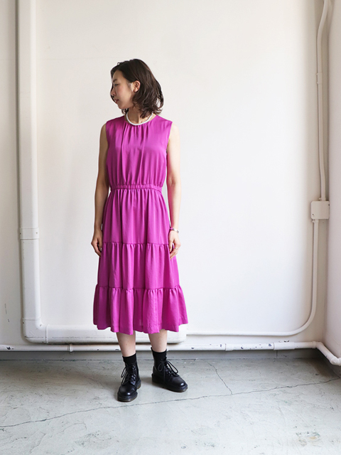Needles(ニードルズ) Tiered Dress -polysateen