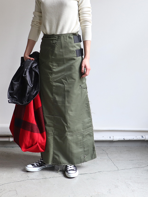 Rebuild by Needles (リビルド バイ ニードルズ) T/C fatigue shirt/pant wrap skirt
