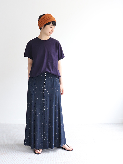 PHEENY(フィーニー)  Rayon dot button-down skirt