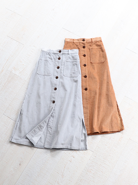 PHEENY(フィーニー)  Corduroy button-down skirt