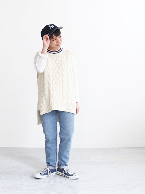 PHEENY(フィーニー) Tilden knit big vest