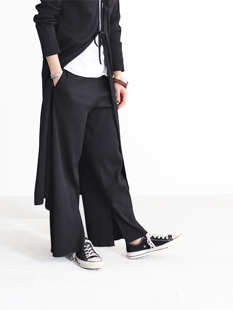 PHEENY(フィーニー)  Pe/c wide rib slit pants