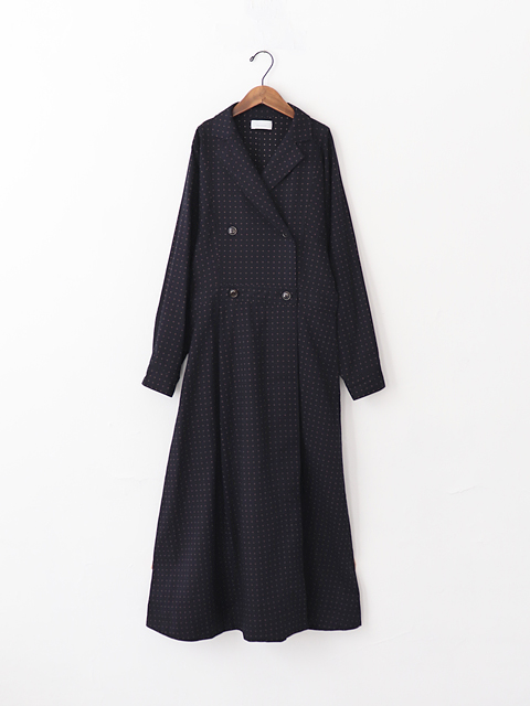 Phlannel(フランネル) Cotton Wool  Double Breasted Dress