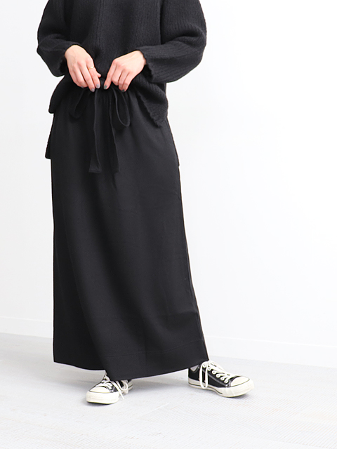 Phlannel(フランネル) Wool Cotton Jersey Long Skirt