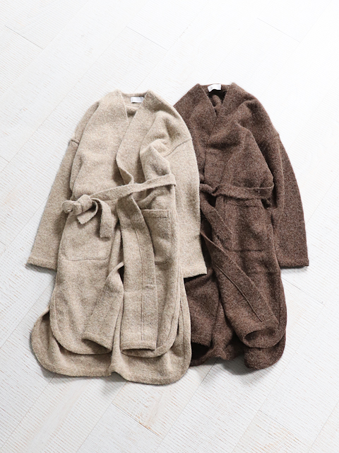 PhlannelL(フランネル) Wool Mohair Long Mantle Cardigan