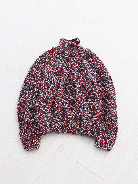 WELLDER(ウェルダー) Melange Color Low Gauge Hand Knit