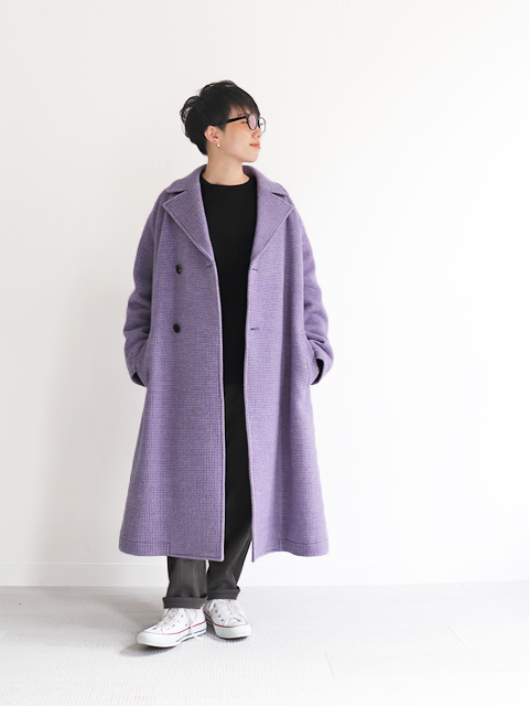 WELLDER(ウェルダー) Double Breasted Balmacaan Coat