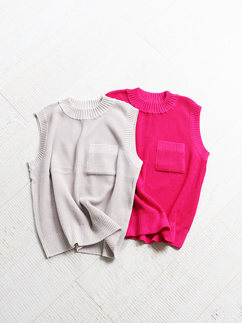 WELLDER(ウェルダー) Oversize Pullover Knit Vest