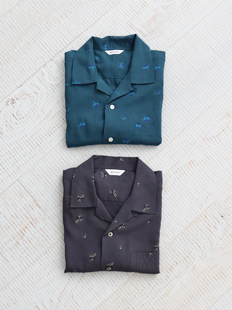 WELLDER(ウェルダー) Short Sleeves Open Collar Shirt