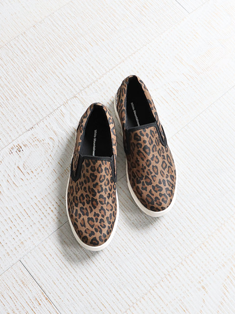 White Mountaineering (ホワイトマウンテニアリング) PERTEX SHIELD PRO LEOPARD PRINTED SLIP-ON