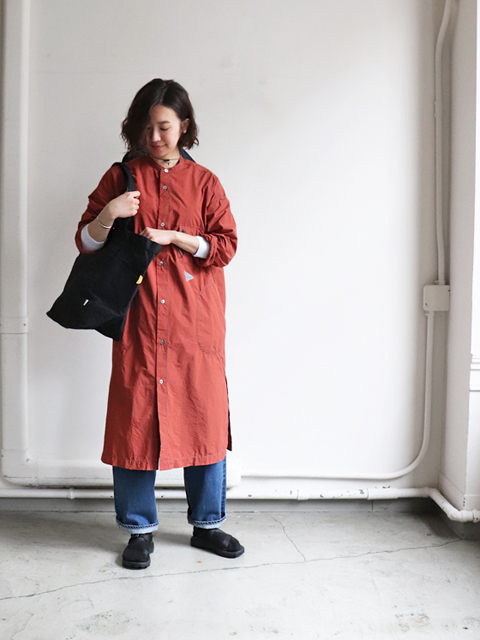 and wander(アンドワンダー) CORDURA typewriter long shirt