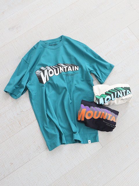and wander(アンドワンダー) MOUNTAIN  by JERRY UKAI short sleeve T -Men's size