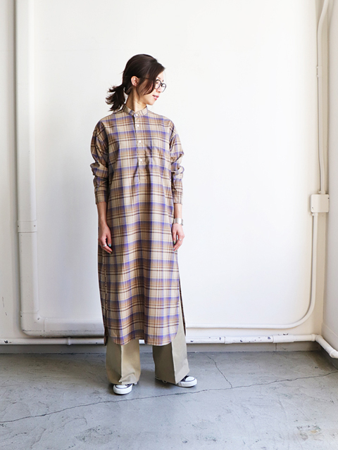 AURALEE(オーラリー) SUPER LIGHT WOOL CHECK ONE-PIECE