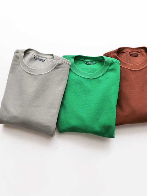 AURALEE(オーラリー) SUPER MILLED SWEAT CUT-OFF P/O
