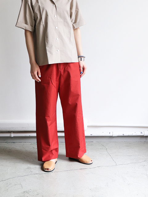 AURALEE(オーラリー) WASHED FINX TWILL EASY WIDE PANTS