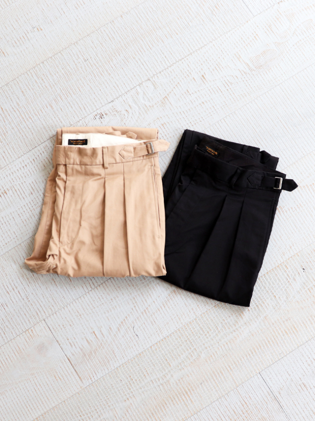 A Vontade(アボンタージ) Highcount Twill Officer Trousers