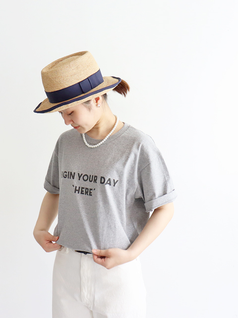 """A Vontade(アボンタージ)7.5oz Tube S/S T-Shirts -BIGIN YOUR DAY """"HEAR""""- ナイモノねだり"""