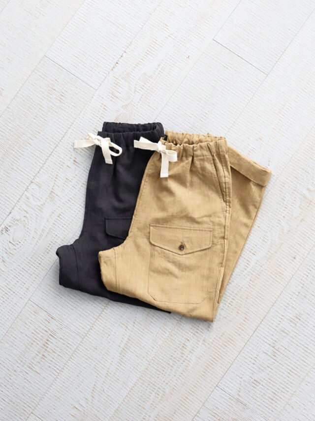 A Vontade(アボンタージ)Linen British Mil. Easy Trousers -Men's size
