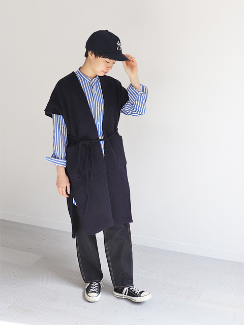 blurhms(ブラームス) Wool Pile Square Long Cardigan
