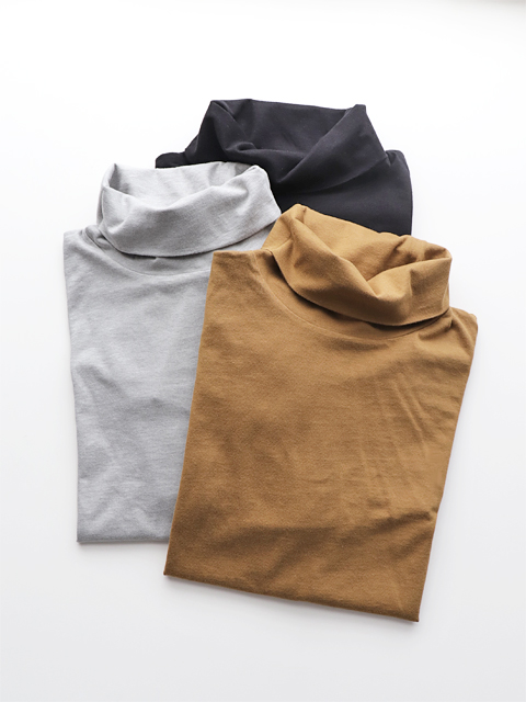 blurhms (ブラームス) Silk Cotton Jersey Turtle-Neck L/S  WM