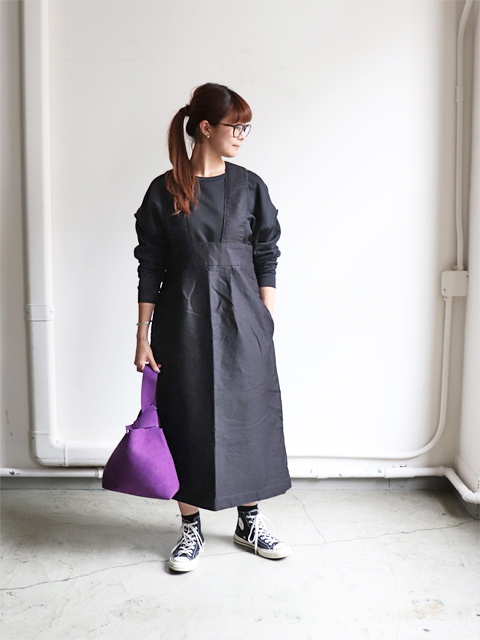 blurhms (ブラームス) Reversed Satin Salopette Skirt