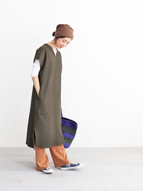 blurhms (ブラームス) New Rough & Smooth Thermal Key-Neck Dress