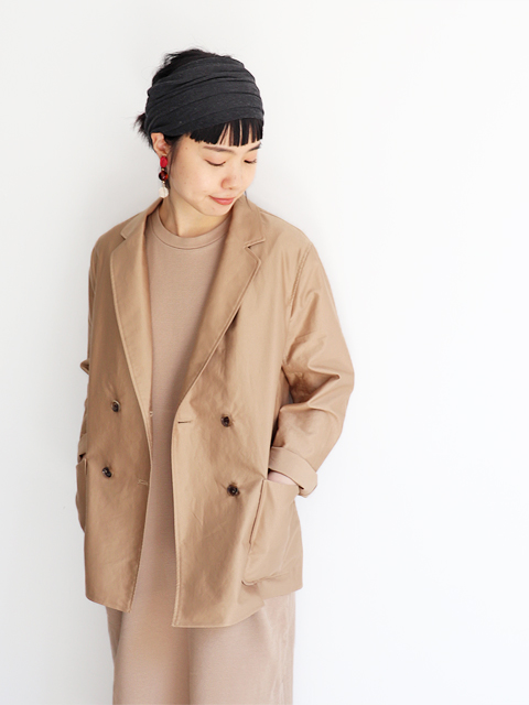 blurhms (ブラームス)  Light Reversed Double-Breasted Jacket