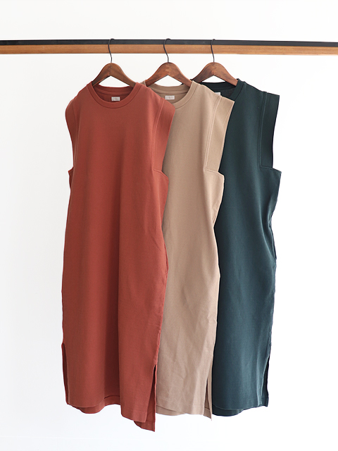 blurhms (ブラームス) Seed Stitch Square Long Dress