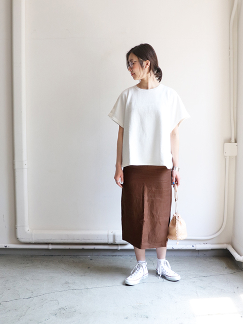 blurhms (ブラームス) French Terry Cut Off Box Tee