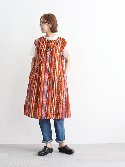 ENGINEERED GARMENTS(エンジニアードガーメンツ) Tunic Dress -Batik Stripe
