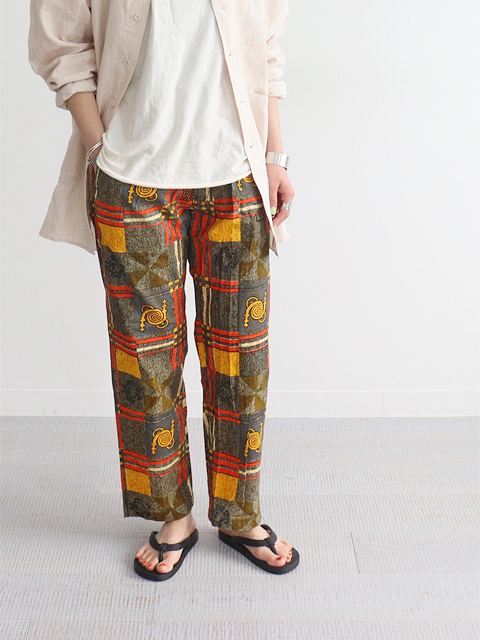 ENGINEERED GARMENTS(エンジニアードガーメンツ) Drawstring Pant -Cotton African Print
