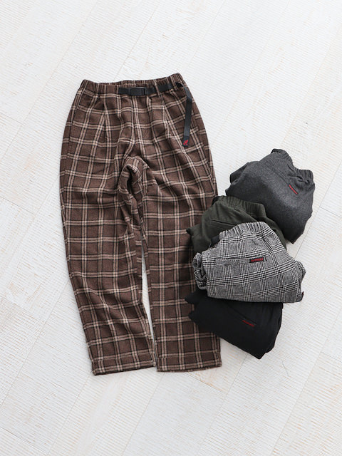 GRAMICCI (グラミチ) WOOL BLEND TUCK TAPERED PANTS -UNISEX