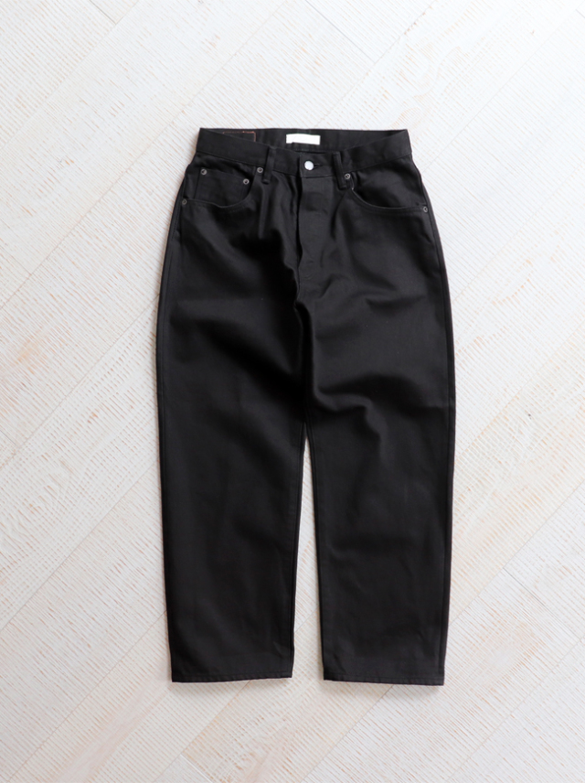 HATSKI(ハツキ) Wide Tapered Denim -Black