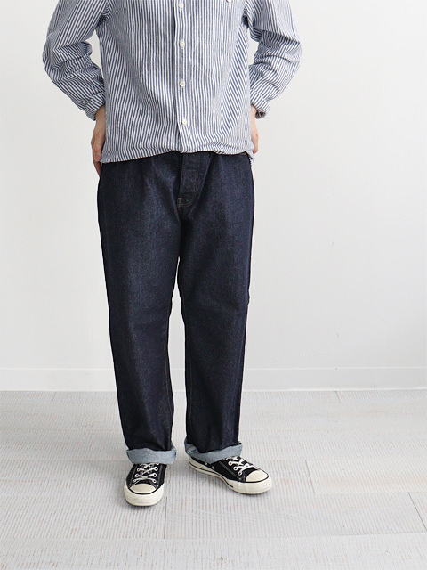 HATSKI(ハツキ) Wide Tapered Twist Denim -One Wash HTK-18013-T
