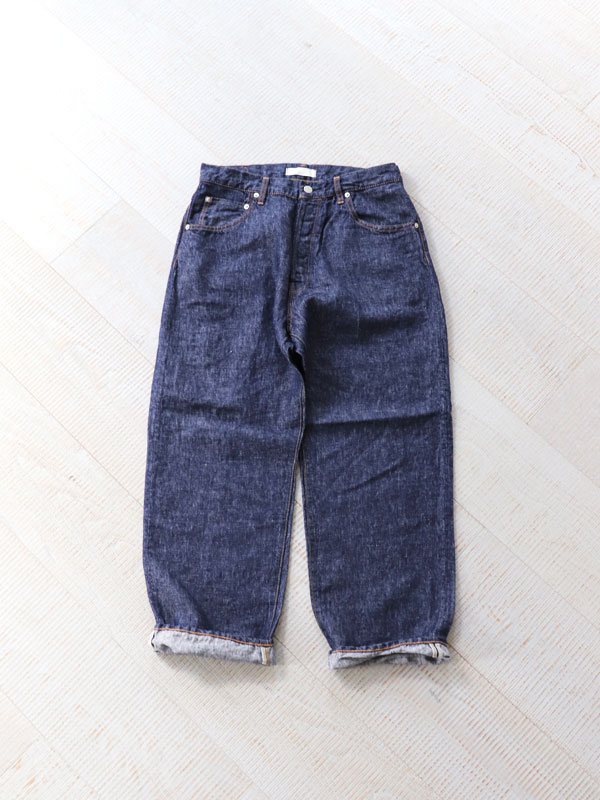 HATSKI(ハツキ) Wide Tapered Denim -Linen