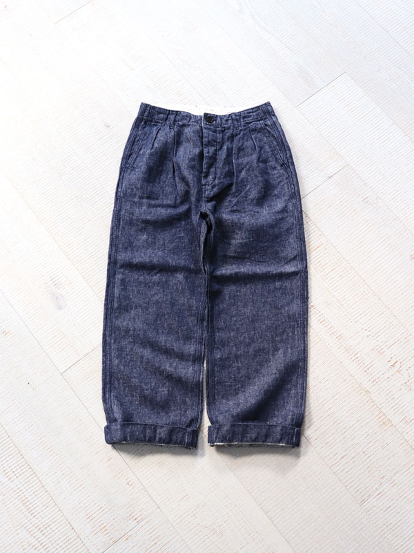 HATSKI(ハツキ) 2Tuck Denim Trouser -Linen