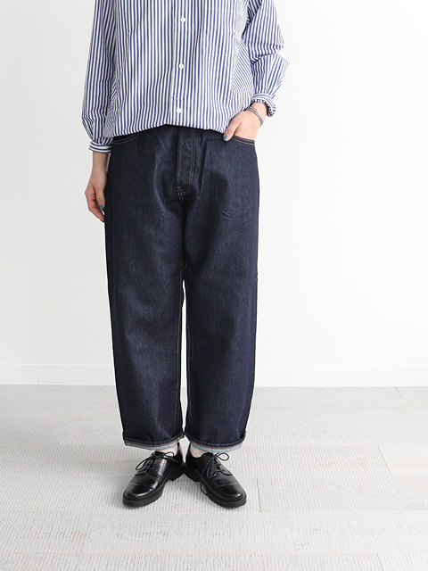HATSKI(ハツキ) Wide Tapered Washi Denim