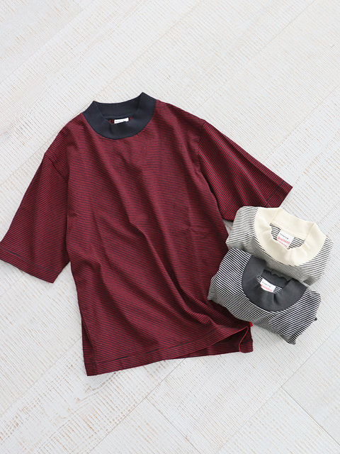 Healthknit(ヘルスニット) Narrow Border Jersey Mocneck S/S