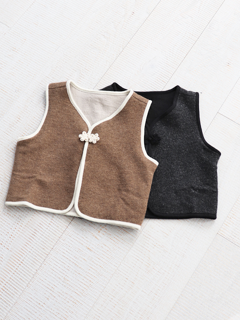 KIJI(キジ) REVERSIBLE TRIMMING VEST WOMENS