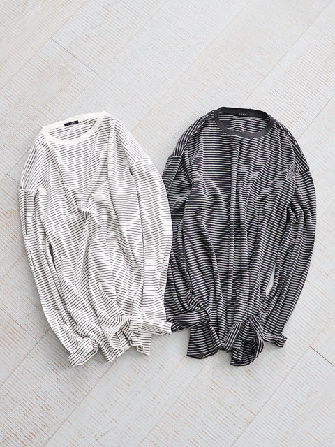 LENO(リノ) LONG SLEEVE BORDER T-SHIRT
