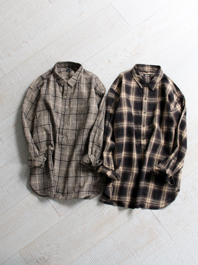 maillot mature(マイヨ マチュア) C/L check pull over shirt MAS-19261
