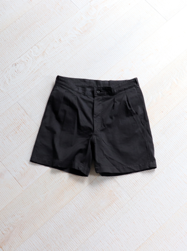 DEADSTOCK(デッドストック) 1980's French Army Chino Shorts -Black