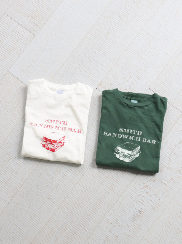 Ordinary fits(オーディナリーフィッツ) PRINT-T SMITH SANDWICH BAR/OF-C018