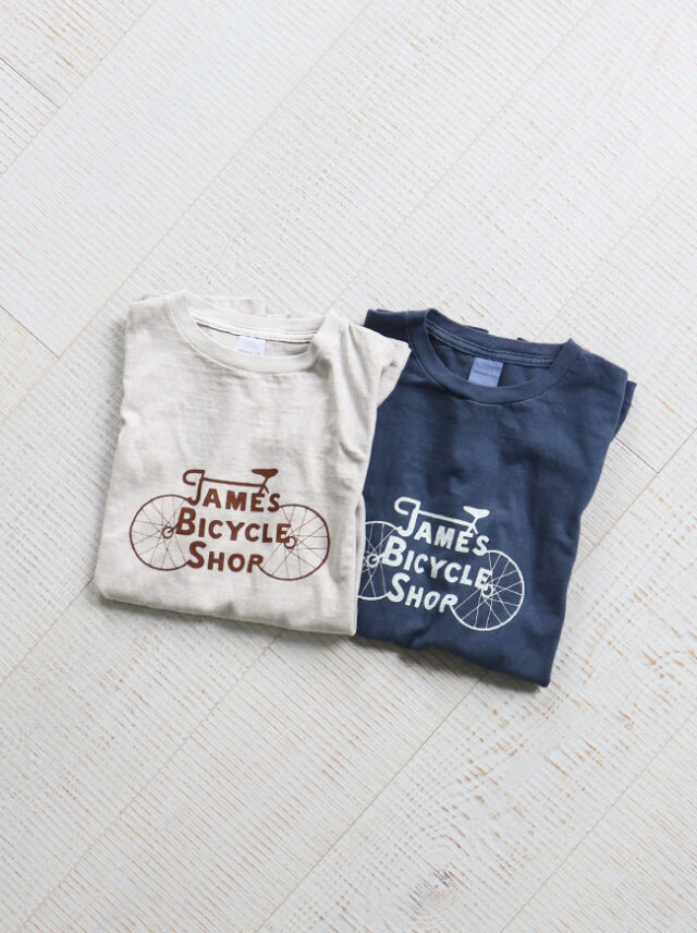 Ordinary fits(オーディナリーフィッツ) PRINT-T JAMES BYCYCLE SHOP/OF-C019