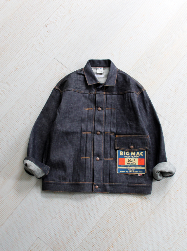 BIG MAC(ビッグマック)× ORDINARY FITS DENIM JACKET -RIGID