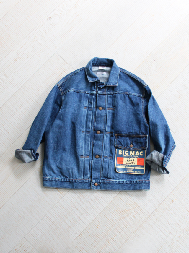 BIG MAC(ビッグマック)× ORDINARY FITS DENIM JACKET -USED